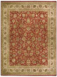 Due Process Jagapatti Yezd Tomato - Cream Area Rug