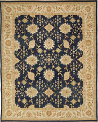 Due Process Jinan Hamadan Navy - Ivory Area Rug