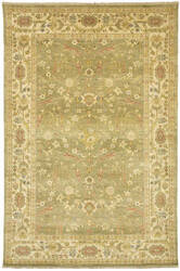 Due Process Jinan Ziegler Light Green - Cream Area Rug