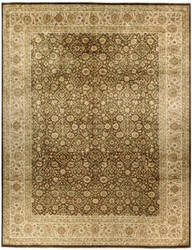 Due Process Kalasha Kirman Tobacco - Cream Area Rug