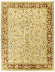 Due Process Kalasha Tehran Cream - Rust Area Rug