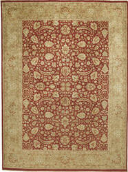 Due Process Kalasha Tehran Red - Gold Area Rug