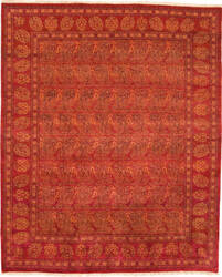 Due Process Kandahar Paisley Rust - Rust Area Rug