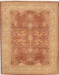 Due Process Kandahar Ziegler Rose - Ivory Area Rug