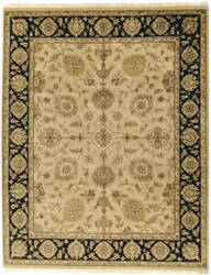 Due Process Kendra Kashan Gold - Black Area Rug