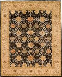 Due Process Khyber Mahal Black-Cream Area Rug