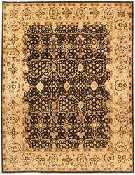 Due Process Khyber Tabriz Black-Cream Area Rug
