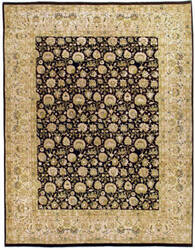 Due Process Khyber Emogli Black - Cream Area Rug