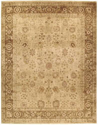 Due Process Khyber Haji Lille Champagne - Brown Area Rug