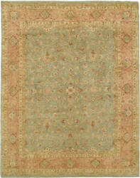 Due Process Khyber Polonaise Silver - Coral Area Rug