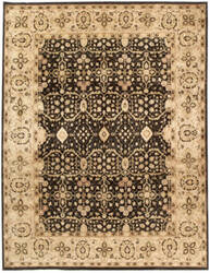 Due Process Khyber Tabriz Black - Cream Area Rug