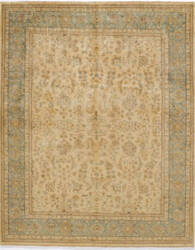 Due Process Khyber Yezd Cream - Aqua Area Rug