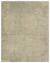 Due Process Lhasa Fingerprints Ivory - Grey Area Rug