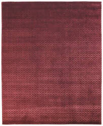 Due Process Lhasa Herringbone Plum Area Rug