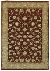 Due Process Madras Yezd Rust - Beige Area Rug