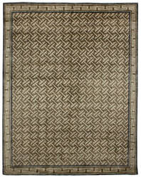 Due Process Mardan Asian Fretwork Charcoal Area Rug