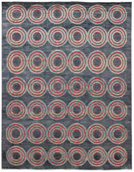 Due Process Milano Full Circle Slate Area Rug