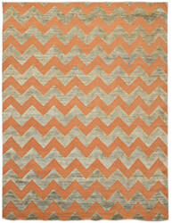 Due Process Milano Zig Zag Orange Area Rug