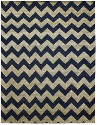 Due Process Milano Zig Zag Slate Blue Area Rug