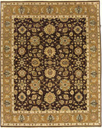 Due Process Mirzapur Agra Brown - Gold Area Rug