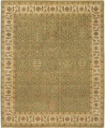 Due Process Mirzapur Bakhtiari Light Green - Ivory Area Rug