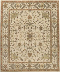 Due Process Mirzapur Herati Cream Area Rug