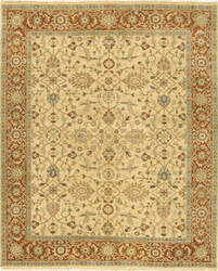 Due Process Mirzapur Oushak Light Gold - Rust Area Rug