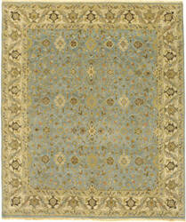 Due Process Mirzapur Yezd Light Blue - Ivory Area Rug