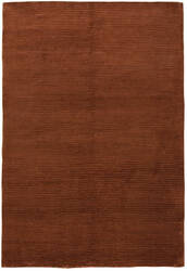 Due Process Nouveau Stripes Rust Area Rug