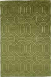 Due Process Nouveau Honey Comb Olive Area Rug
