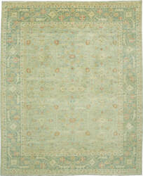 Due Process Peshawar Distressed Distressed Hamadan Grey - Aqua Area Rug