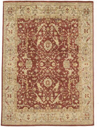 Due Process Peshawar Farahan Red - Cream Area Rug