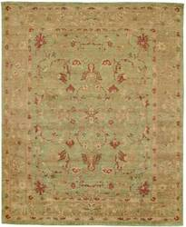 Due Process Peshawar Sultanabad Pistachio-Gold Area Rug