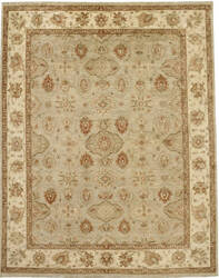 Due Process Peshawar Hereke Aqua - Cream Area Rug