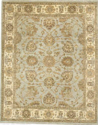 Due Process Peshawar Quetta Light Blue - Cream Area Rug