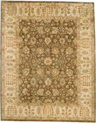 Due Process Peshawar Tehran Brown - Cream Area Rug