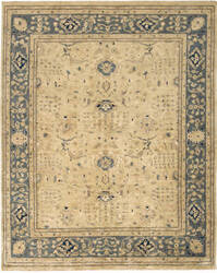 Due Process Peshawar Ziegler Cream - Soft Blue Area Rug