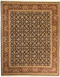 Due Process Qingdoa Herati Navy-Red Area Rug
