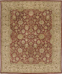 Due Process Rambagh Isphahan Red - Beige Area Rug