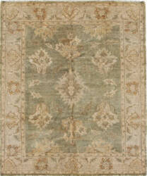 Due Process Supershine Mahal Green - Beige Area Rug