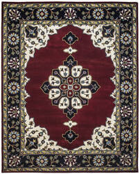 Due Process Tufted Kashan Open Field Red - Navy Area Rug