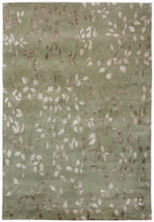 Due Process Tufted Leaves Green Area Rug