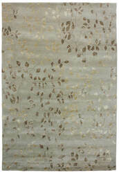 Due Process Tufted Leaves Sea Foam Area Rug