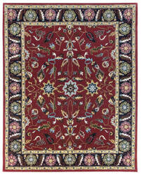 Due Process Tufted Oushak Red - Navy Area Rug