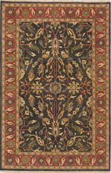 Due Process Thana Ii Ii Oushak Navy - Red Area Rug