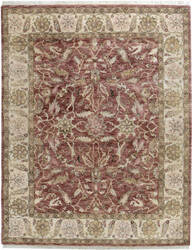 Due Process Thana Oushak Claret - Ivory Area Rug