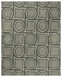 Due Process Nouveau Boswell Steel Area Rug