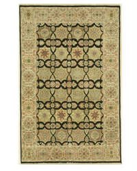 Eastern Rugs Agra 9085 Black Area Rug