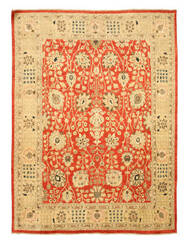 Eastern Rugs Peshawar 9257 Red Area Rug