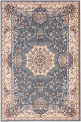 Eastern Rugs Tabriz Medallion Fl51bl Blue Area Rug